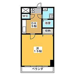 メゾンドベル8[5階]の間取り