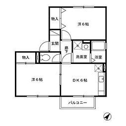 メゾンクロシェット[2階]の間取り
