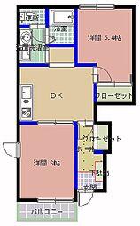 COVENT GARDEN[1階]の間取り