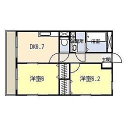 松橋マンション[308号室]の間取り