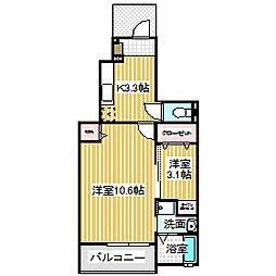 愛知県名古屋市中川区太平通3丁目の賃貸アパートの間取り