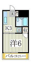 ハイツ綾彩[3階]の間取り