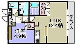 大阪府和泉市伏屋町の賃貸アパートの間取り