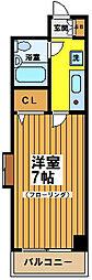 東京都世田谷区羽根木2丁目の賃貸マンションの間取り