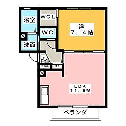 ノンシャランB[2階]の間取り