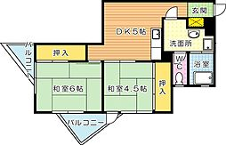 ルポールマンション[5階]の間取り