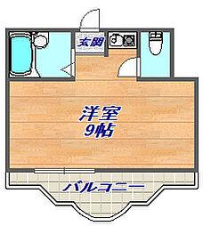 三景マンション[2階]の間取り