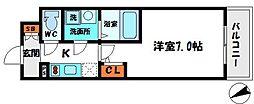 エスリード京橋グランテラス[6階]の間取り
