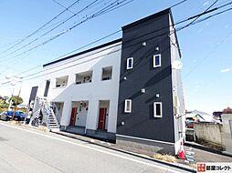 群馬県高崎市常盤町の賃貸アパートの外観