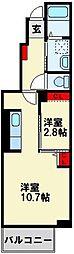 プランドールセゾンII[1階]の間取り