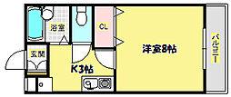 ハウスキャピタル[2階]の間取り