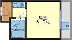 グローバル八戸ノ里II[303号室]の間取り