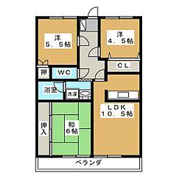 シャトレ文教台[3階]の間取り