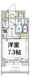 ワールドアイ大阪ドームシティ 2階1Kの間取り