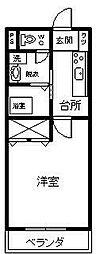 ZIPANGU参番館[301号室]の間取り