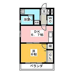 OCEAN−S[3階]の間取り