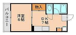 柴田コ−ポ[4階]の間取り