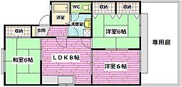 広島県安芸郡熊野町萩原8丁目の賃貸アパートの間取り