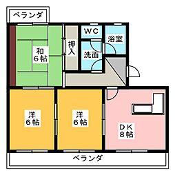 ラ・カシタ・グリスIII[4階]の間取り