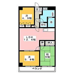 ロイヤルシティ東戸塚 1階3LDKの間取り