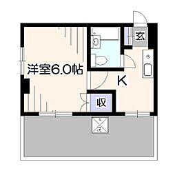 埼玉県新座市栗原5丁目の賃貸マンションの間取り