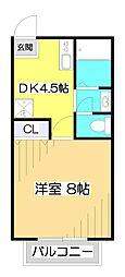 サザンクロス[1階]の間取り