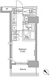 東京メトロ有楽町線 月島駅 徒歩1分の賃貸マンション 5階1Kの間取り
