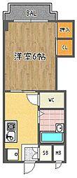 ハイツキタヨシ[1-A号室]の間取り