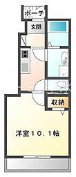 兵庫県三木市大村の賃貸アパートの間取り