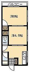サンマンション[A8号室]の間取り