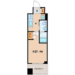 仙台市営南北線 勾当台公園駅 徒歩9分の賃貸マンション 7階1Kの間取り