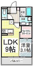 長野県長野市三輪3丁目の賃貸アパートの間取り