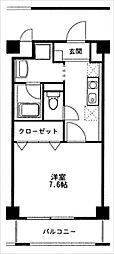 リバーサイド安藤II[503号室]の間取り