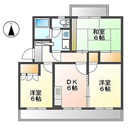 ドルフK[2階]の間取り