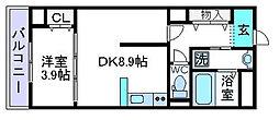 仮)上田辺マンション[303号室]の間取り