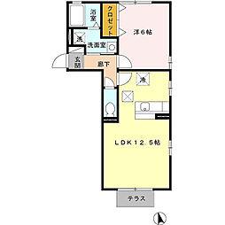 セジュールコート[1階]の間取り