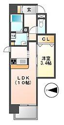 グランシャリオ栄[2階]の間取り