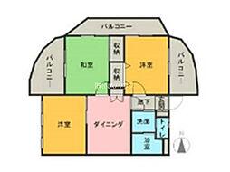 埼玉県上尾市上平中央1丁目の賃貸マンションの間取り