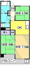 アメニティコウヤマ第3ガーデン[3階]の間取り