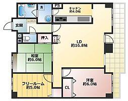 ラピタス31西宮[8階]の間取り
