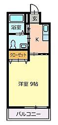 徳島県徳島市昭和町2丁目の賃貸マンションの間取り