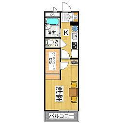 レオパレス虹[3階]の間取り