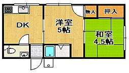 小島マンション[3階]の間取り