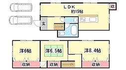 [一戸建] 兵庫県神戸市北区鈴蘭台東町3丁目 の賃貸【/】の間取り