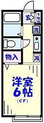 シテ・ラピーヌ若宮[2階]の間取り