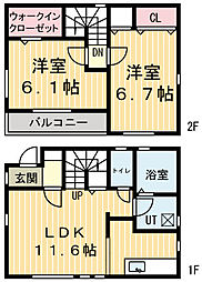 [一戸建] 栃木県鹿沼市緑町3丁目 の賃貸【/】の間取り