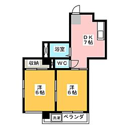 CASA Okuda[3階]の間取り