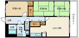 メルヴェーユ桃山台[1階]の間取り