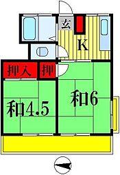 富士コーポ[303号室]の間取り