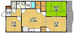 カーサ武田88[4階]の間取り
